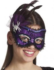 Elegante Violette Augenmaske für Damen Halloween