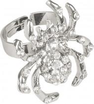 Silberner Halloween Ring in Form einer Spinne