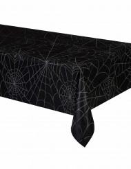Schwarze Tishdecke mit Spinngeweb aus Plastik