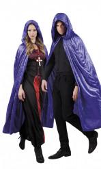 Violettes Cape im Samt-Look für die Halloween-Party,170 cm lang, für Erwachsene