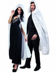 Weißer Umhang in Samteffekt 120 cm lang für Erwachsene