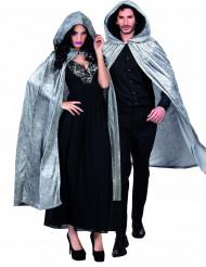 Grauer Samt Umhang - Halloween