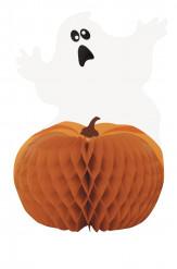 Halloween-Tischdekoration Kürbis und Geist 28 cm