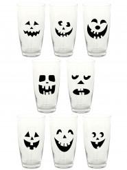 16 Halloween Aufkleber für Gläser