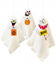 3 Gespenster zum Aufhängen Halloween