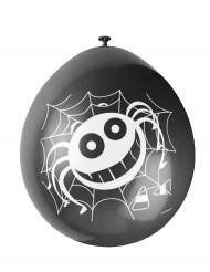 10 Halloween Luftballons mit Spinnennetz