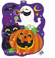 Halloween-Wandschild - Kürbis