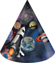 8 Partyhüte - Weltall Planeten