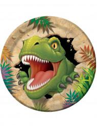 8 Pappteller mit Dinosaurier-Motiv für Geburtstage