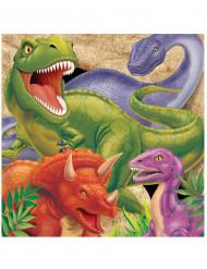 16 Dinosaurier-Servietten