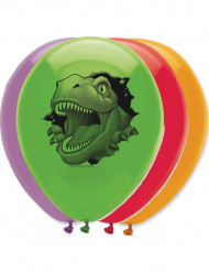 6 Luftballons Dinosaurier