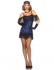 Charleston Kostüm Blau Damen