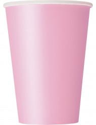 Pappbecher Getränkebecher 10 Stück rosa 355ml