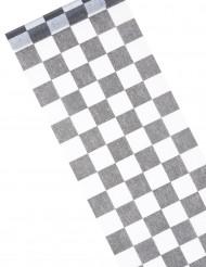 Retro-Tischläufer mit Karomuster Tischzubehör schwarz-weiss 5m x 27cm