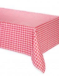 Karierte Tischdecke mit rotem Vichymuster 137 x 274 cm
