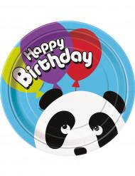 8 Panda Pappkarton Teller