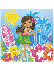 16 Hawaii Papier Servietten