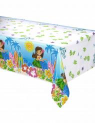 Kunststoff Tischdecke im Hawaii Look 137x x214cm