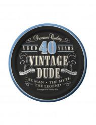 8 kleine Teller Geburtstag 40 Jahre