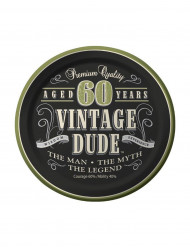 8 Retro Teller - 60 Jahre