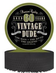 Tischaufsteller - Vintage 60. Geburtstag