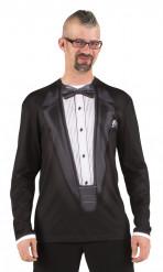 T-Shirt Schwarzer Gala-Anzug für Erwachsene