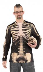 T-Shirt für Erwachsene mit aufgedrucktem Skelett für Halloween