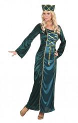 Verkleidung Mittelalterliche Königin in Grün für Frauen
