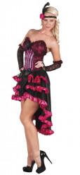 Verkleidung als französische Cancan-Tänzerin in Rosa für Frauen