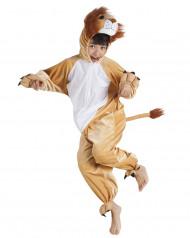 Löwen-Jumpsuit für Kinder Tier-Verkleidung braun
