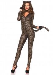 Hautenges Leoparden Kostüm für Damen