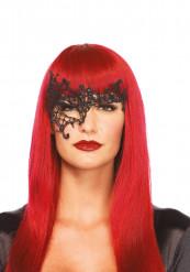 Venezianische Augenmaske schwarz mit Spitze
