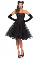 Schwarzes 50er Jahre Kleid Kostüm für Damen