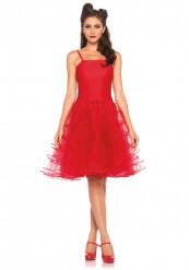 Rotes Kleid als 50er Jahre Kostüm für Frauen