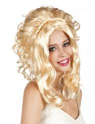 Blonde Cowgirl-Perücke für Damen