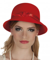 Roter Hut im 20er Jahre Charleston Stil für Frauen