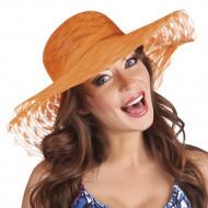 Sommerhut orange für Frauen