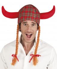 Wikinger-Haube in Schottenmuster für Erwachsene