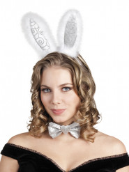 Silberne Häschen Ohren für Erwachsene