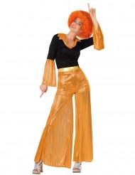 Disco-Kostüm in Orange für Damen