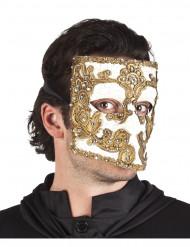 Venezianische Gesichtsmaske in weiß und gold