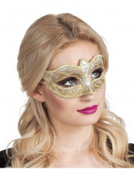 Goldene glitzernde Augenmaske - Karneval in Venedig