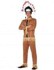 Herren-Indianer-Kostüm bunt