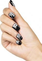 Falsche Fingernägel zum Ankleben Spinnen-Motiv Damen Halloween