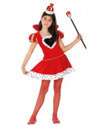 Herz-Königin-Kostüm für Mädchen