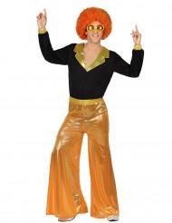 Orangefarbenes Disco-Kostüm für Männer