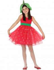 Sommerliches Erdbeer-Kostüm für Mädchen rot-grün