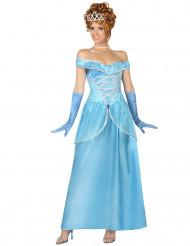 Blaues Prinzessin-Kostüm für Damen