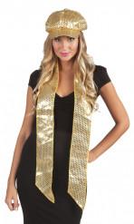Goldener Schal mit Pailletten für Erwachsene