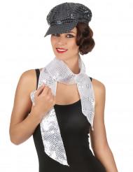 Silberner Schal mit Pailletten für Erwachsene